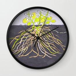 earthworm love Wall Clock