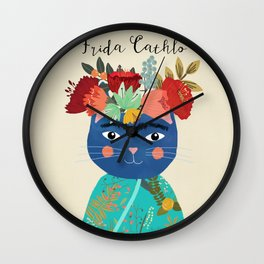 Frida Cathlo Wall Clock