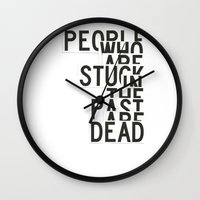 shaun of the dead Wall Clocks featuring Dead by WRDBNR