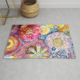 Flowered Table Rug