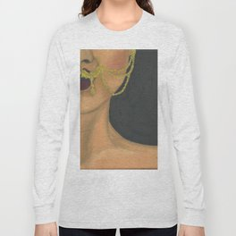 Woman With a Nose Ring Long Sleeve T-shirt