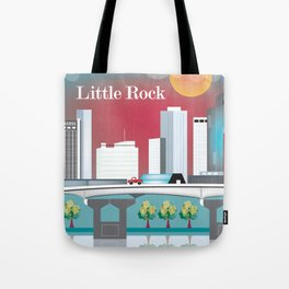 Little Rock, Arkansas - Skyline Illustration by Loose Petals Tote Bag