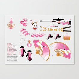 Hell's Angel Weapons Canvas Print