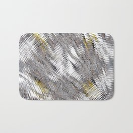 Silver Metallic Urban Industrial Bath Mat