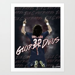 David Luiz PSG Art Print