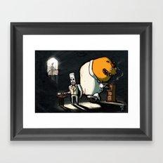 Use Verb on Noun #11: Grim Fandango Framed Art Print