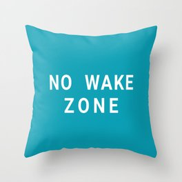 No Wake Zone - Stacked Throw Pillow
