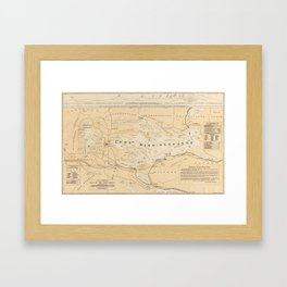 Vintage Map of Lake Winnipesaukee (1896) Framed Art Print