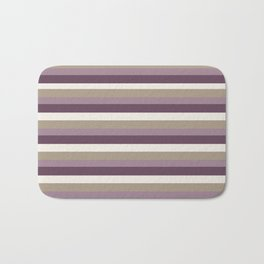 Stripes in Magenta, Lavender and Cream Bath Mat