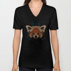 Red Panda Face Unisex V-Neck