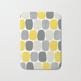 Wonky Ovals in Yellow Bath Mat
