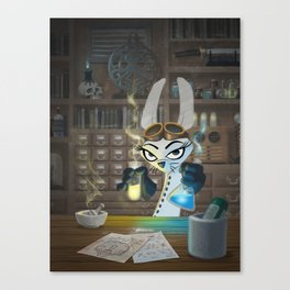 The Lair of the Dark Bunny Canvas Print
