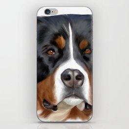 BERNESE MOUNTAIN DOG ART iPhone Skin