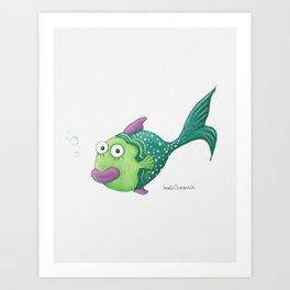Funny Fish Art Print