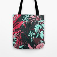 jungle Tote Bags featuring Jungle by theroyalbubblemaker