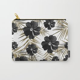 Tropical Diamond Flowers #1 #chic #floral #palms #decor #art #society6 Carry-All Pouch