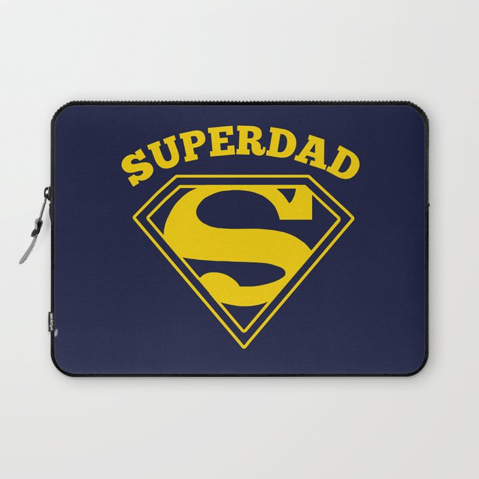 Superdad Superhero Dad Gift Laptop Sleeve By Bootsboots Society6