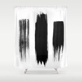 Black lines Shower Curtain