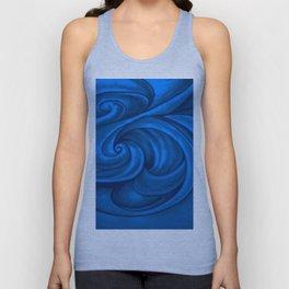 swirl (dark blue) Unisex Tank Top
