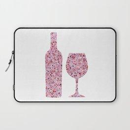 Wine Floral Watercolor Laptop Sleeve