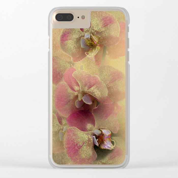 The mystery of orchid(gold). Clear iPhone Case