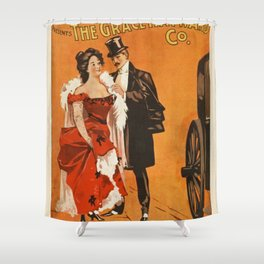 The Grace Hayward Co. Vintage Poster Shower Curtain