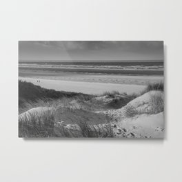 Beach Dune Black white Metal Print