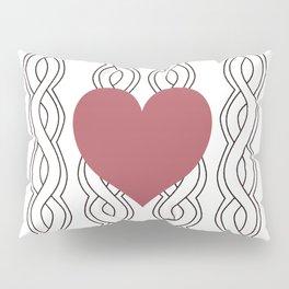 Hearts Woven 02 Pillow Sham