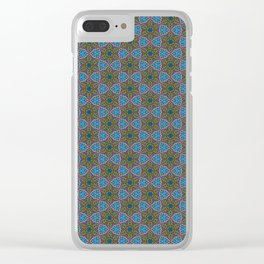 Embroidered Kaleidoscope - Stars Clear iPhone Case