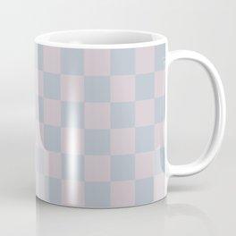 Soft Dusty Mauve and Teal Checks Coffee Mug
