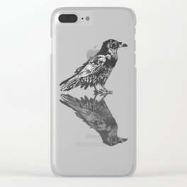 Raven Grey Clear iPhone Case