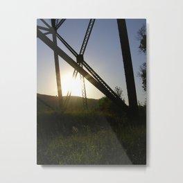 Lethbridge Viaduct (High Level Bridge) Metal Print