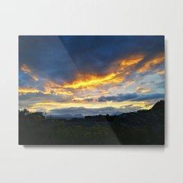 Sky on fire Metal Print
