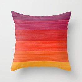 Acrylic Autumn Color Scheme Throw Pillow