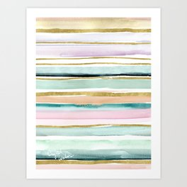 Day Dream Stripe Art Print