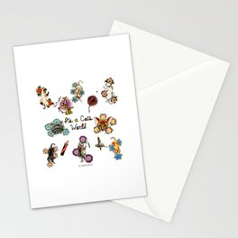 It's a Cat's World Stationery Cards