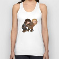 fili Tank Tops featuring Fili and Kili by Hattie Hedgehog