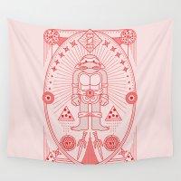 tmnt Wall Tapestries featuring Raph Pizza Jam  by Josh Ln