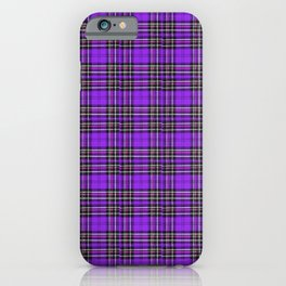 Lunchbox Purple Plaid iPhone Case