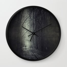 from darkness into light Wall Clock