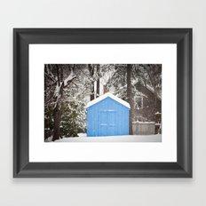 Blue Snow House  Framed Art Print