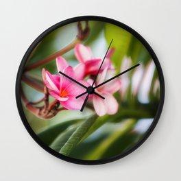 Frangipani Wall Clock