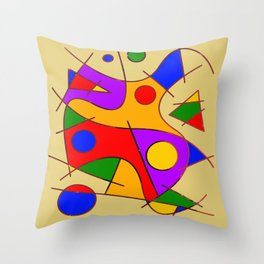 Abstract #206 Throw Pillow