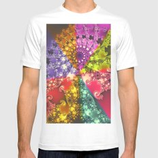 energy flower Mens Fitted Tee MEDIUM White