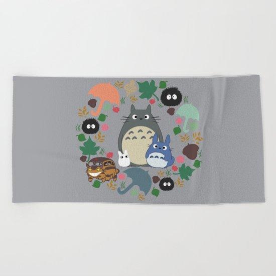 Troll Wreath Beach Towel