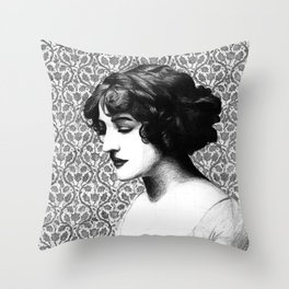 Miss Lily Elsie Throw Pillow