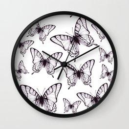 simple butterfly pattern Wall Clock