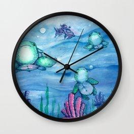 Bitty Sea Turtles Wall Clock
