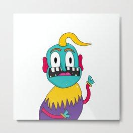 Fitz the Monster Metal Print