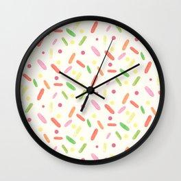 sweet things: liquorice comfit Wall Clock